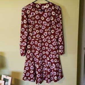 LOFT long sleeve drop waist dress